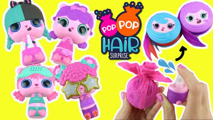 Gagne un des 10 lots Pop Pop Hair Surprise!