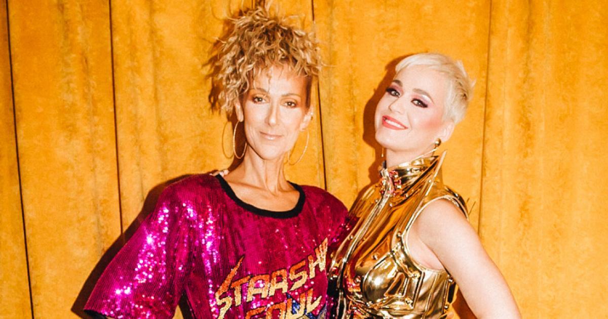 Céline Dion publie cette photo avec Katy Perry: outre son look déjanté, c'est un tout autre détail qui interpelle les internautes… (photos)