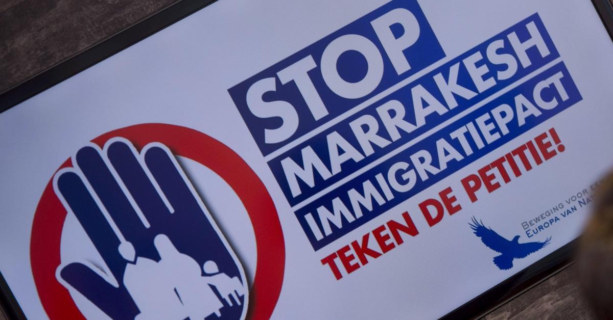 """Des associations flamandes de droite organiseront une """"Marche contre Marrakech"""" à Bruxelles"""