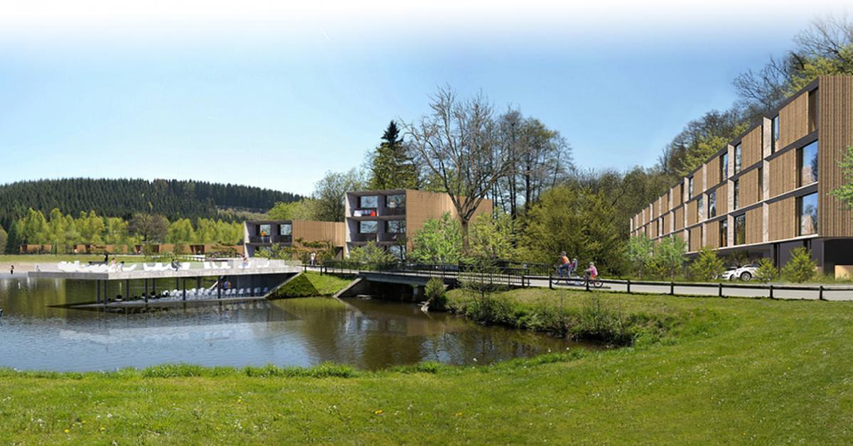 Neufchâteau – projet : Neufchateau: le projet de village de vacances au lac avance bien - Sudinfo.be