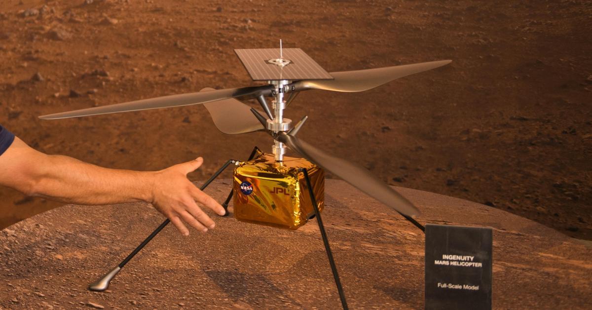 Le mini-hélicopètre Ingenuity s'est signalé pour la première fois depuis Mars - Sudinfo.be