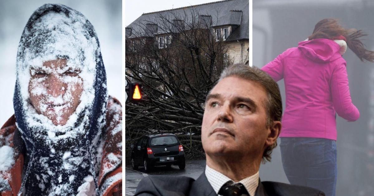 Vents violents, giboulées, gel et chutes de neige: voici les prévisions météo de Luc Trullemans… - Sudinfo.be