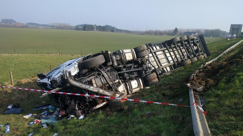 Double accident sur l'E411 à Courrière et Wierde, embarras de circulation