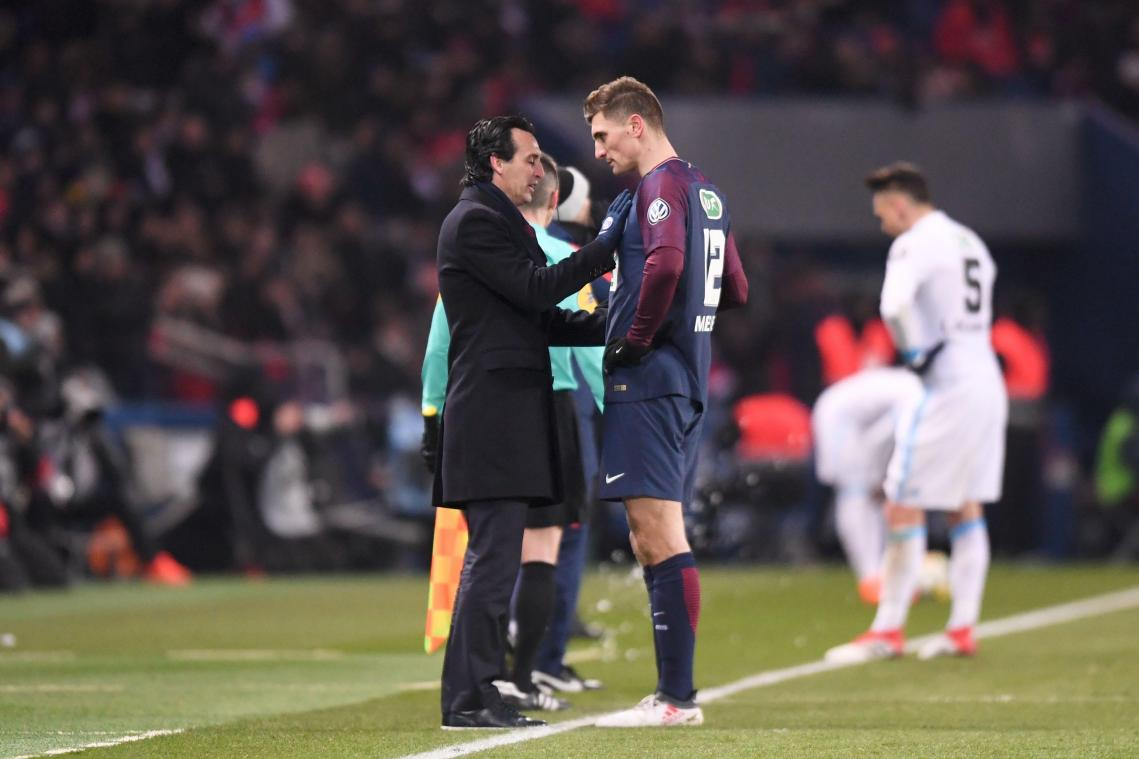 PSG - Discussion houleuse entre Meunier et Emery
