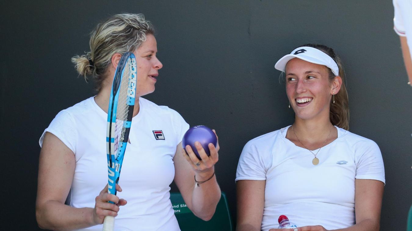 Elise Mertens: «Peut-être que je pourrai m'entraîner avec Kim Clijsters dans son académie»