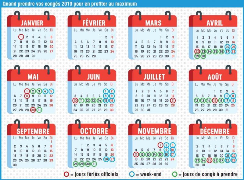Calendrier Feries 2019.Bon Plan Voici Comment Transformer 29 Jours De Conge En