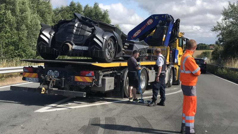 Nord-Pas-de-Calais : la Batmobile durement accidentée