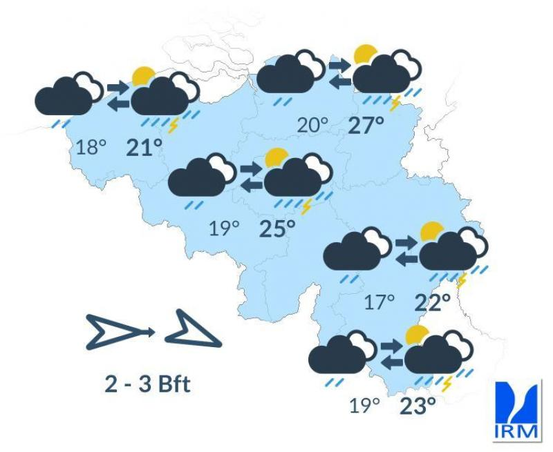 La Belgique passe en alerte jaune orage ce vendredi!