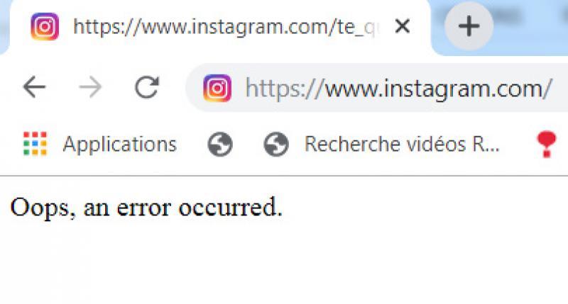 Depuis 9h Facebook et Instagram en panne
