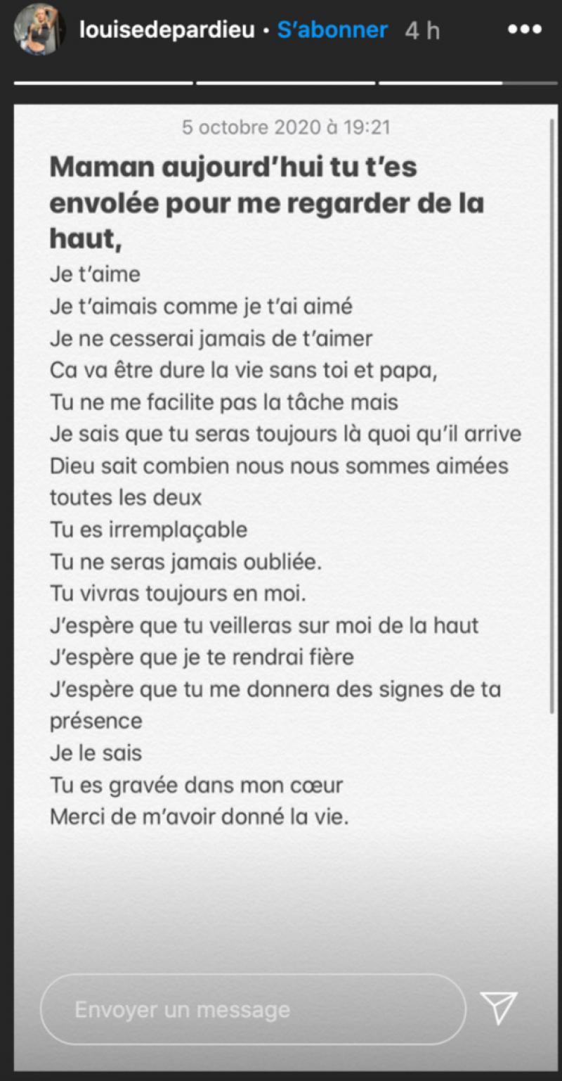 Gerard Depardieu En Deuil Sa Petite Fille Louise 19 Ans Annonce Le Deces De Sa Maman