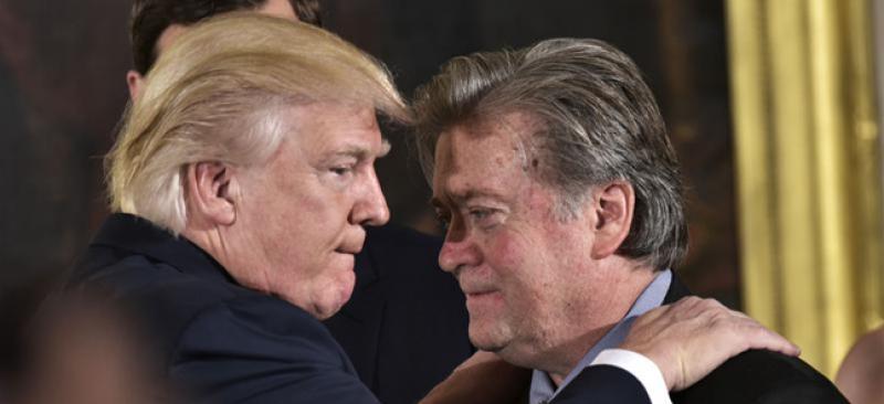 Donald Trump et Steve Bannon.