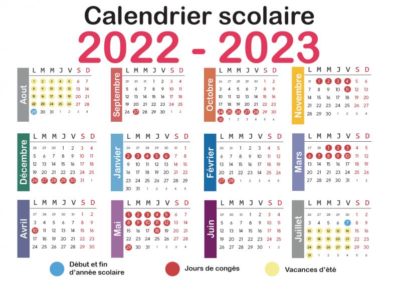 France Calendrier Scolaire 2022 2023 Nouveaux rythmes scolaires: voici le calendrier complet pour 2022 2023