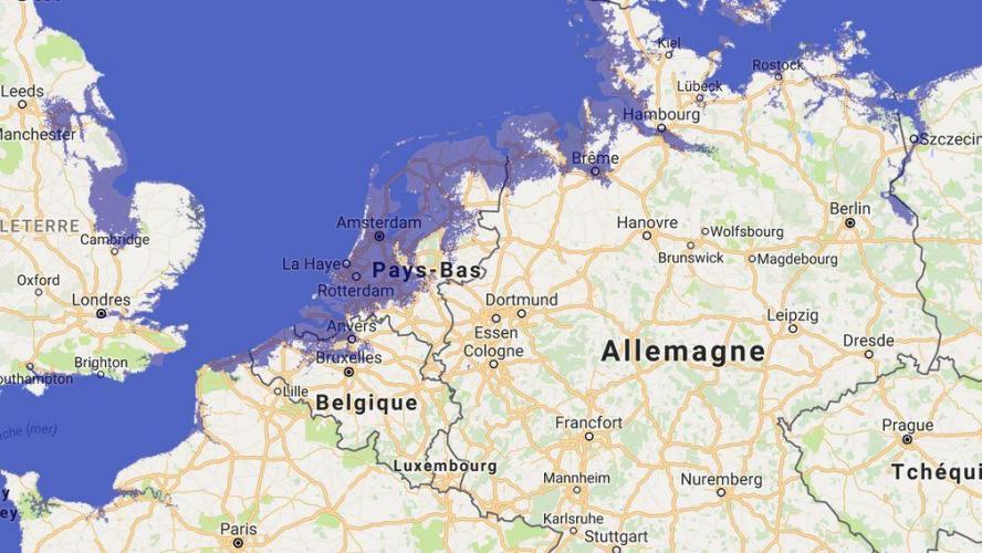 Carte Wallonie Flandre.Flandre Et Danemark Rayes De La Carte Avec Une Montee Du