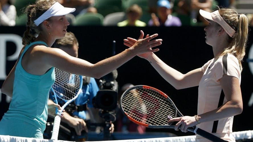 Relive the successful match ball by Elise Mertens against Elina Svitolina (video)