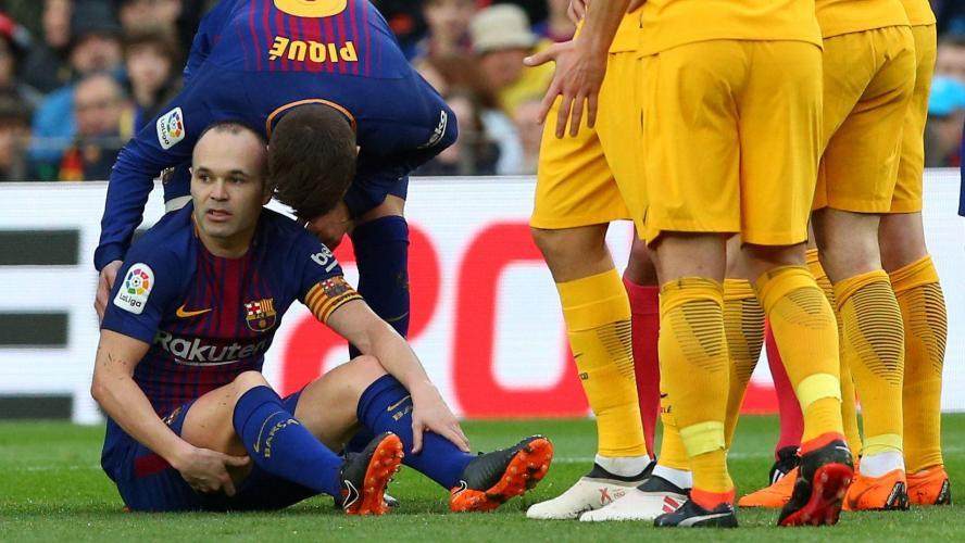 Le Barça communique sur la blessure d'Iniesta — Barcelone