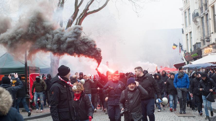 Les supporters du Standard mettent l'ambiance à la gare des Guillemins ! (VIDEOS)