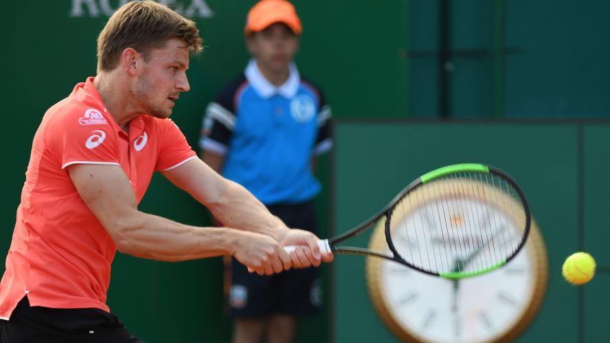 David Goffin en quarts de finale du double de l'ATP Monte Carlo