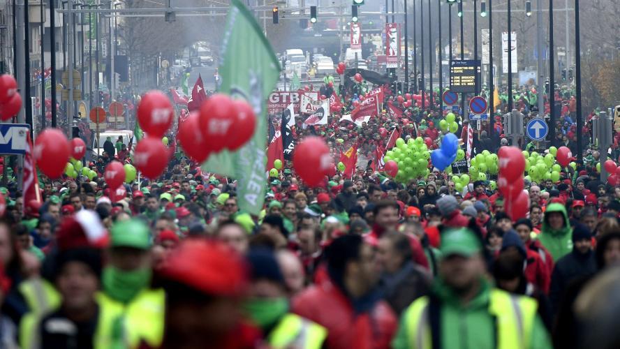 La Belgique au ralenti pour une grève générale