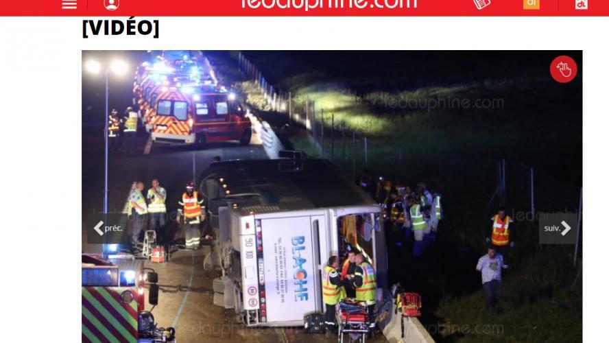 Le bilan de l'accident de bus sur l'A7 — Drôme
