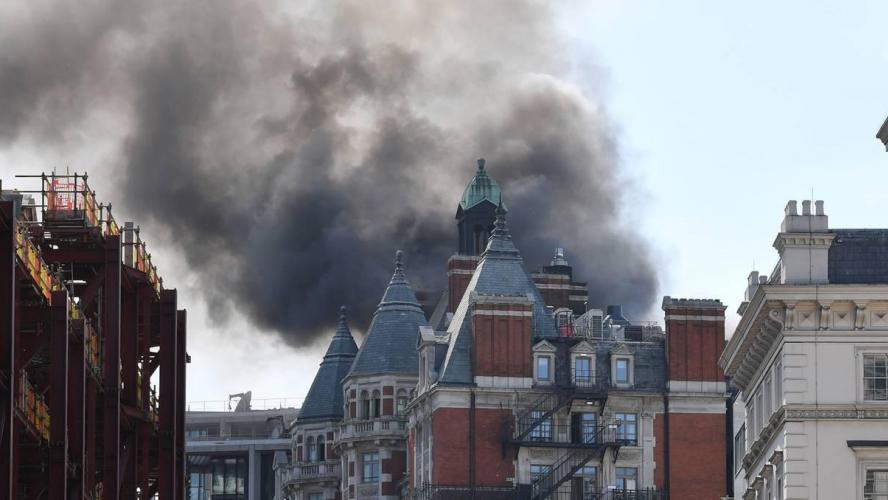 Un incendie s'est déclenché dans un hôtel cinq étoiles — Londres