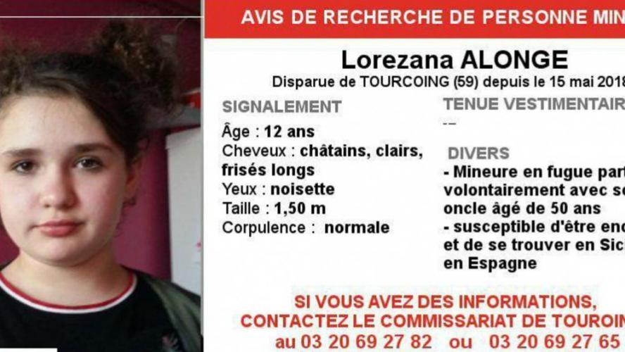 Disparition inquiétante d'une jeune fille de 12 ans — Tourcoing