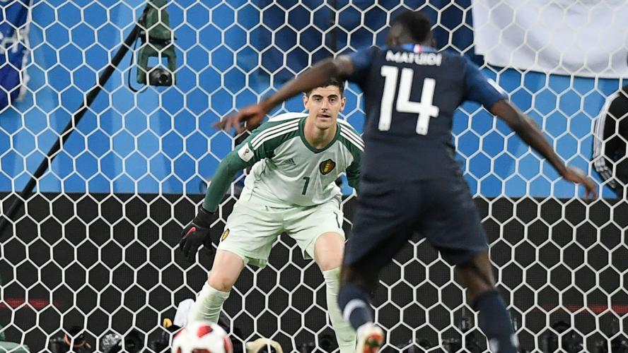 Mauvais perdants Courtois, Hazard et Kompany — France-Belgique