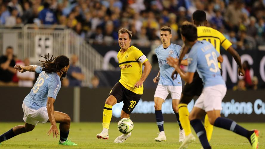 Le Borussia Dortmund s'impose contre Manchester City — International Champions Cup
