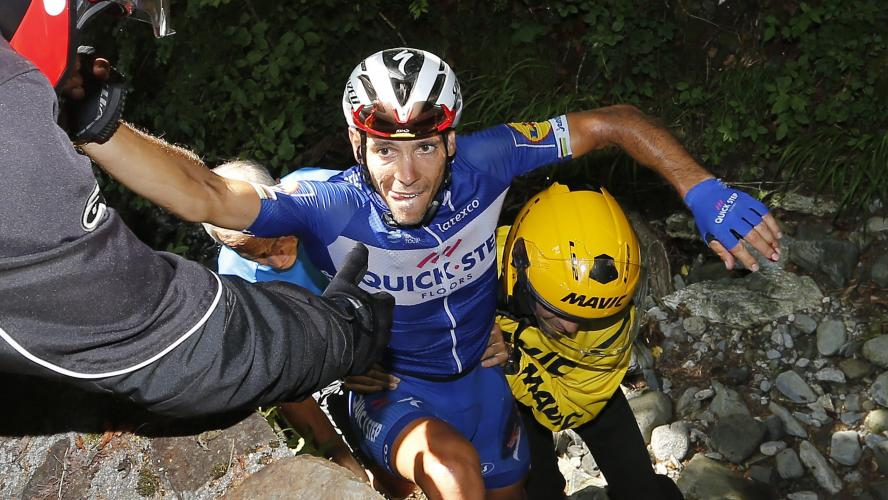 Gilbert a terminé la 16e étape avec une rotule fracturée