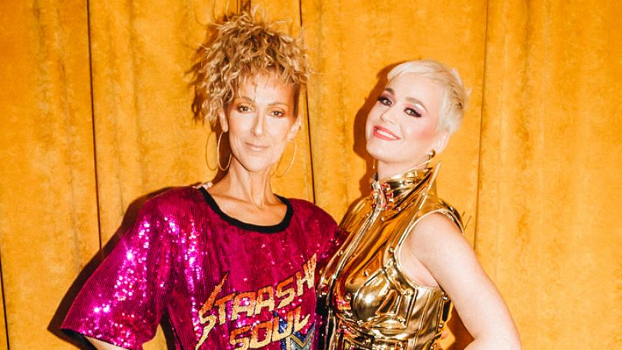 Céline Dion en total look paillettes s'amuse avec Katy Perry!