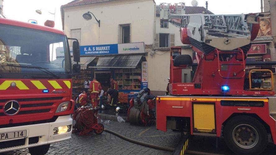 Près d'une vingtaine de blessés dans un grave incendie — Aubervilliers