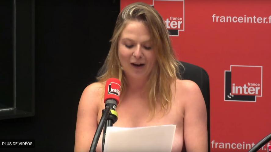Vidéo : France Inter : L'humoriste Constance termine sa chronique les seins nus !