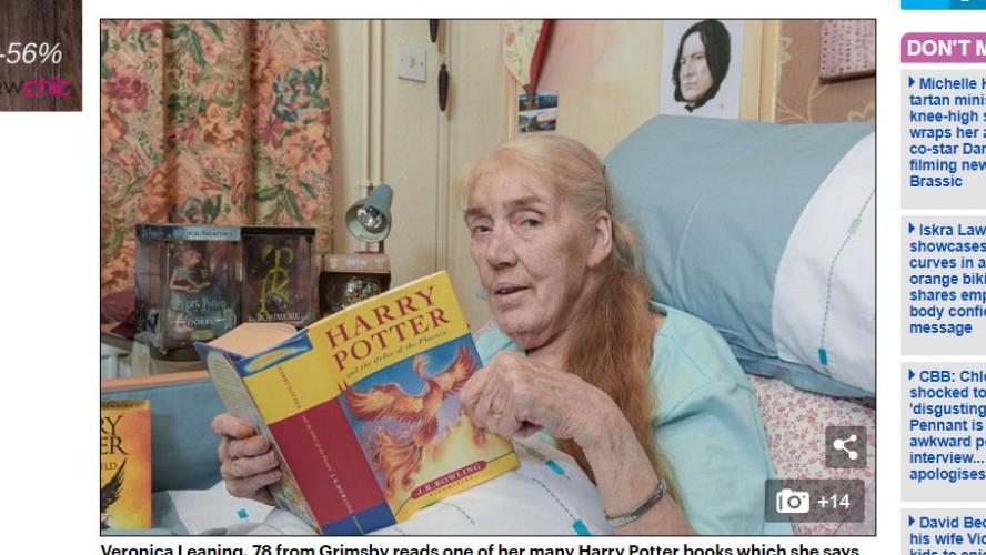 78 ans veronica organise ses propres fun railles sur le th me d harry potter photos. Black Bedroom Furniture Sets. Home Design Ideas