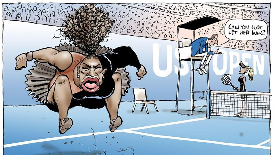 Cette caricature de Serena Williams fait scandale
