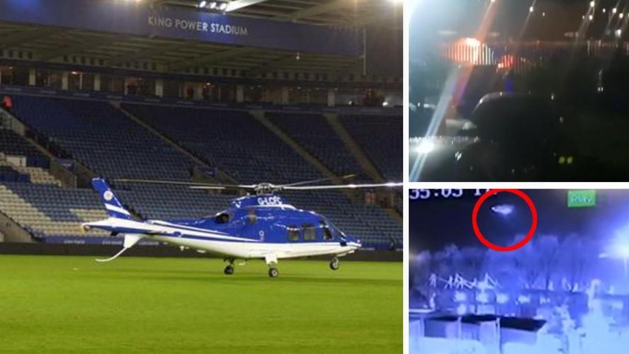 L'hélicoptère du président de Leicester s'écrase