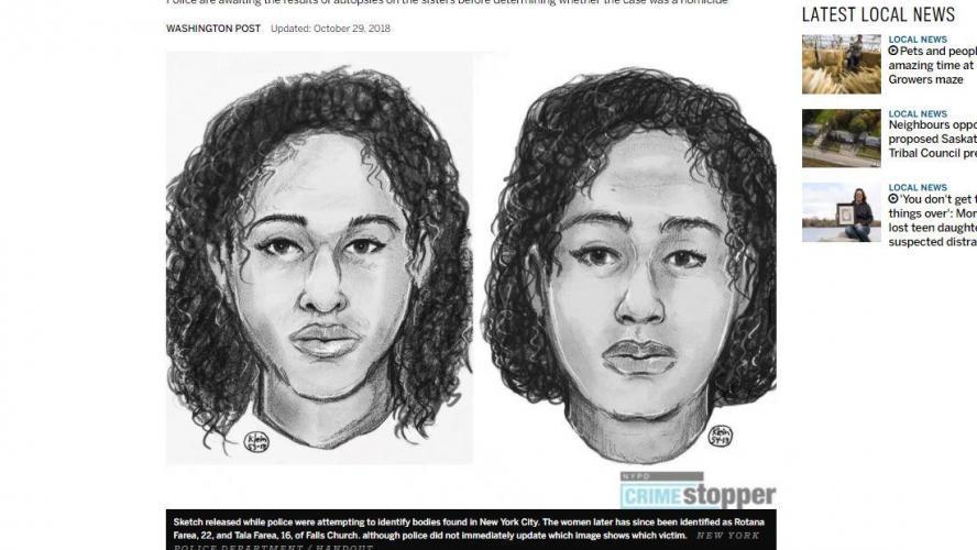 Deux soeurs saoudiennes retrouvées mortes — New York