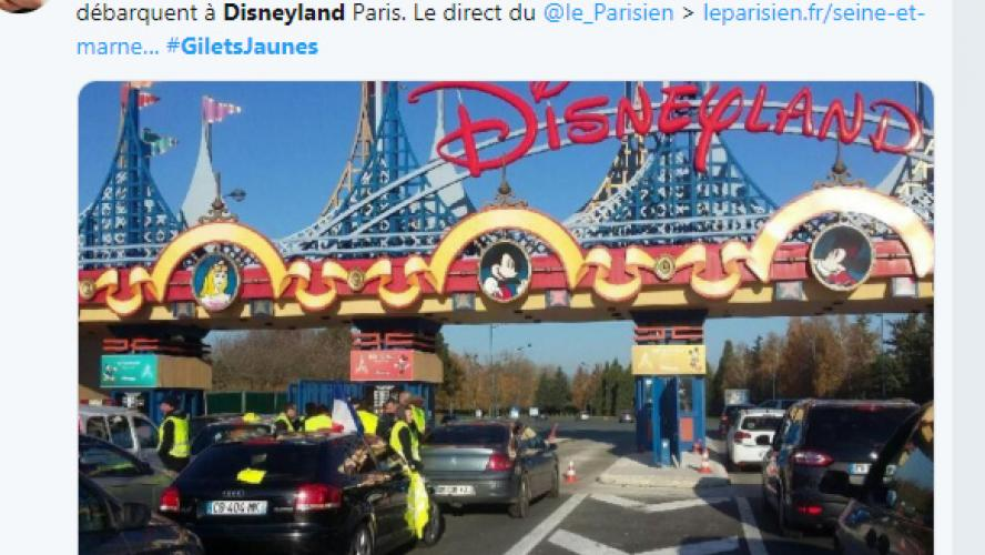 Seine-et-Marne - Des gilets jaunes à Disneyland Paris