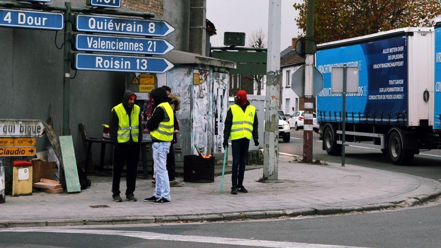 frontière franco belge gilets jaunes