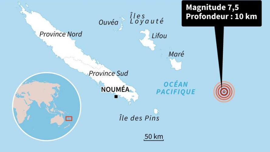 L'archipel essuie un violent séisme, l'alerte tsunami levée — Nouvelle-Calédonie