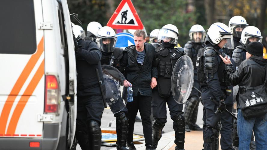 À Bruxelles, environ 70 arrestations en amont d'une manifestation —