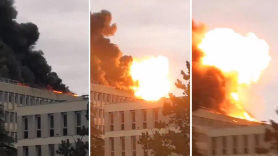 Forte explosion et incendie sur le campus d'une université à Lyon