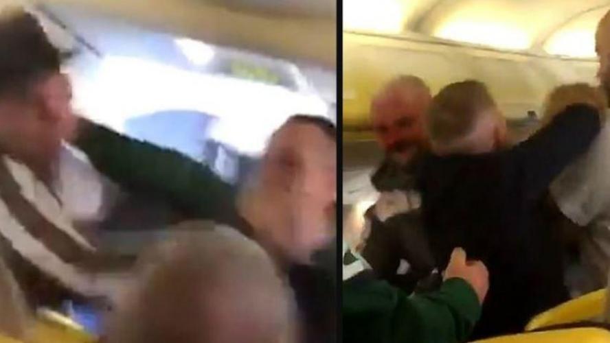 Deux passagers ivres en viennent aux coups dans un avion bondé