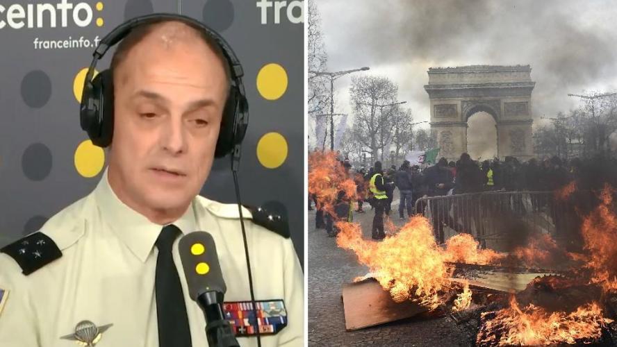 Un général français indique que «les militaires pourront aller jusqu'à l'ouverture du feu» contre les Gilets jaunes (vidéo)