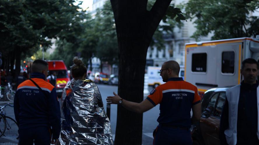 France: trois morts dans l'incendie d'un immeuble dans le centre de Paris