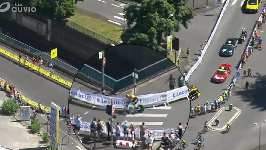 Tour de France Wout Van Aert abandonne après une terrible chute dans le contre-la-montre