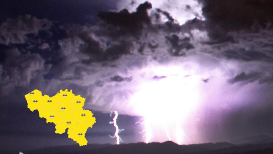 La canicule laisse place aux orages ce vendredi précipitations abondantes grêle et rafales la Belgique passe en alerte jaune