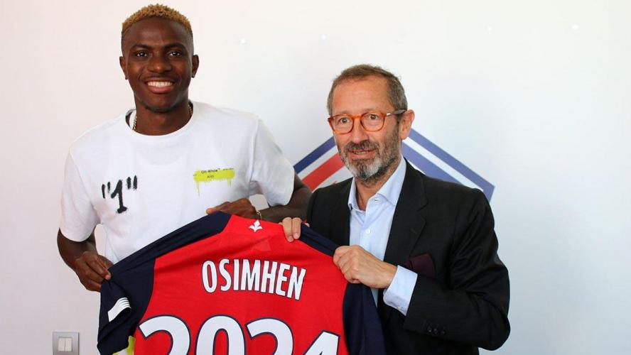 Officiel - Mercato : le LOSC recrute Victor Osimhen (Charleroi) pour cinq ans