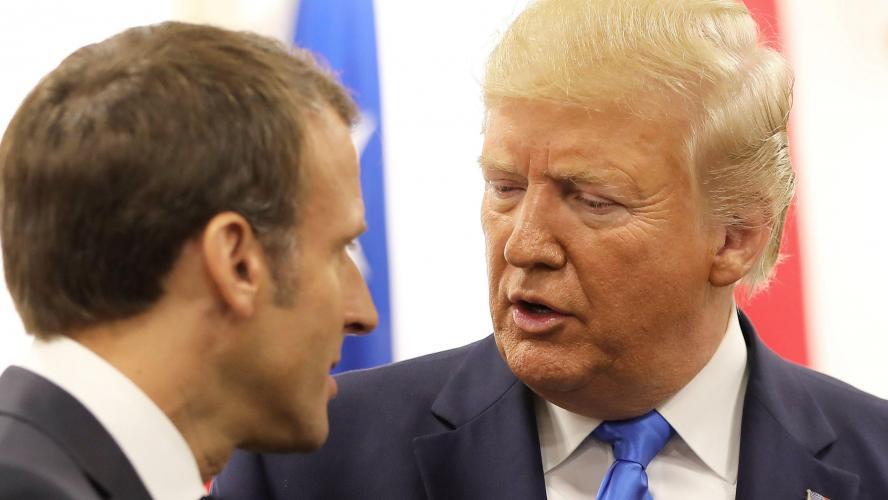 Trump critique Macron pour les