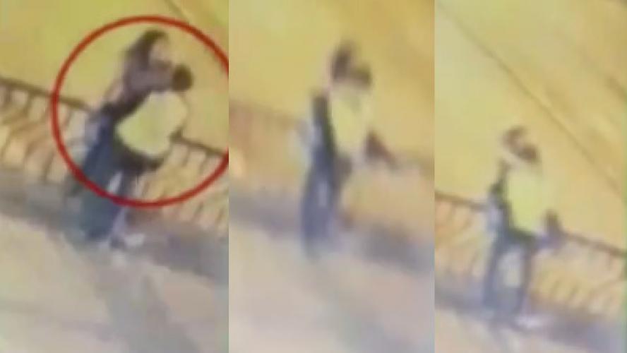 Un couple se tue en s'embrassant sur un pont (vidéo)
