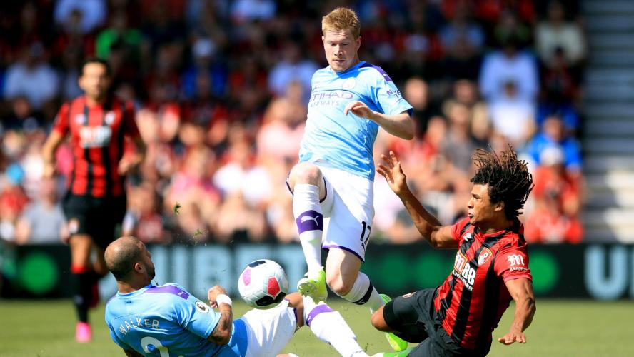 Premier League: Manchester City s'impose à Bournemouth (1-3), assist de Kevin De Bruyne (vidéos)