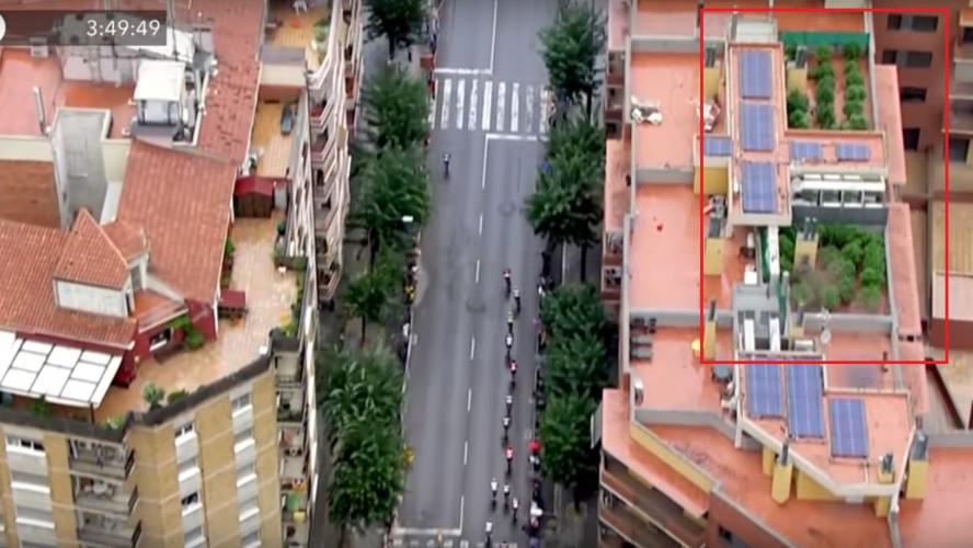 L'hélicoptère du Tour d'Espagne découvre une plantation de cannabis en direct